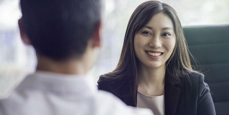 candidate interviewing for job
