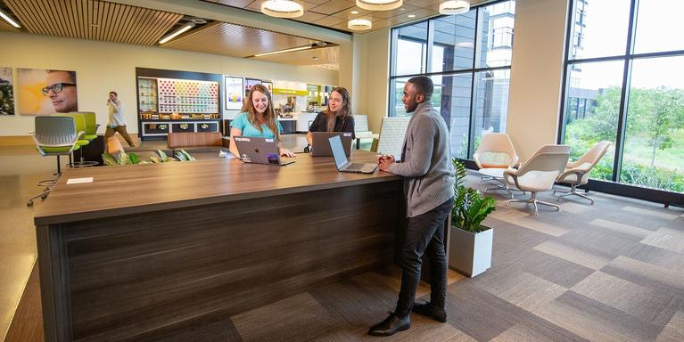 UnitedHealth Group employees working in the Minnetonka, MN, office.