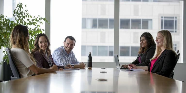 Employees meeting in a conference room