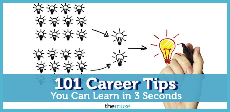 101 Career Tips You Can Learn in 3 Seconds
