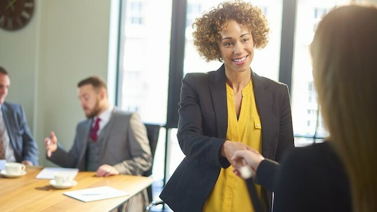 person interviewing for new role