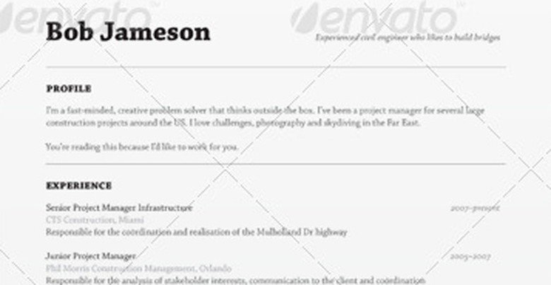 Envato Resume Template The Muse