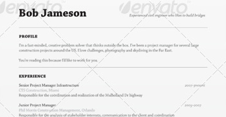 Envato Resume Template | The Muse