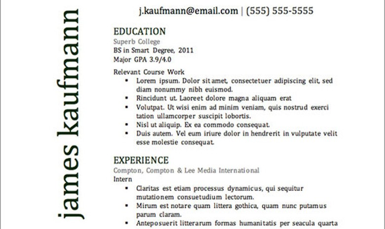 Top Resume Templates | Top Resume Templates Including Word Templates The Muse