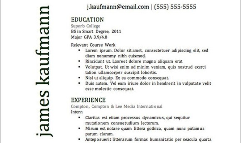 Primer Resume Template The Muse