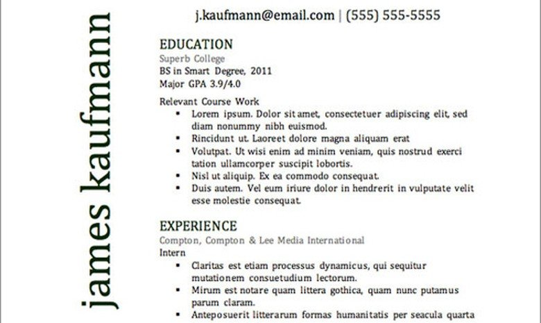 get the resume template - Best Resume Ever
