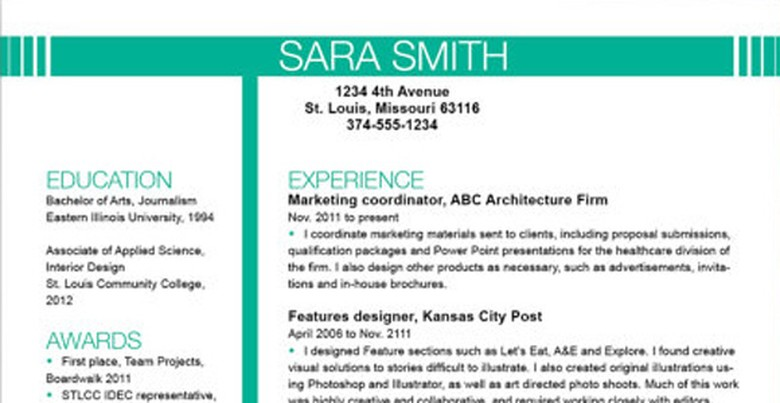 Top Resume Templates Including Word