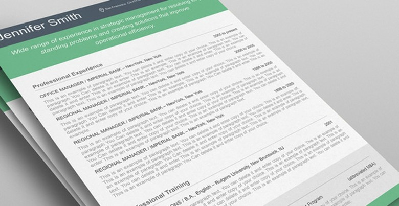 green resume templates the muse - Resume Layouts