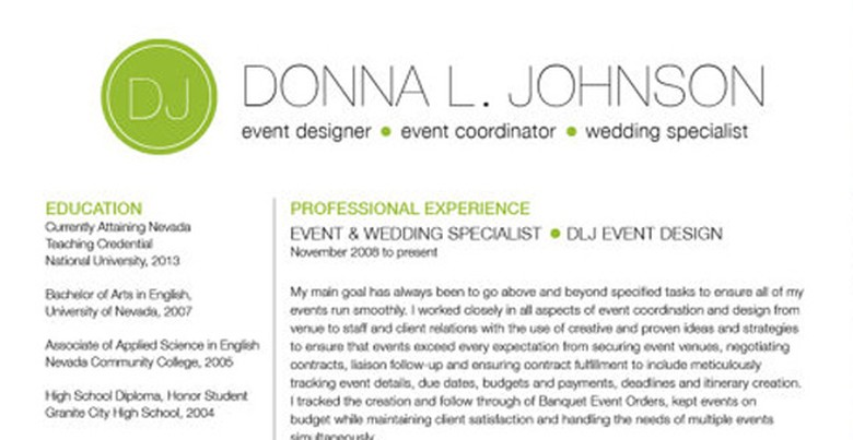 Etsy Resume Template 3