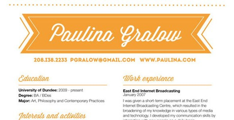 Etsy Resume Template 5
