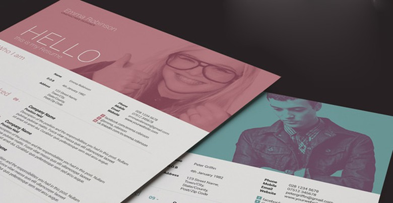 Creative Market Resume Template 4