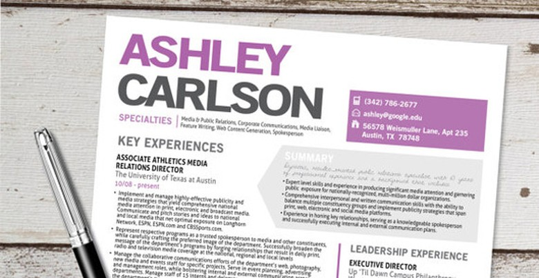 Etsy Resume Template 6
