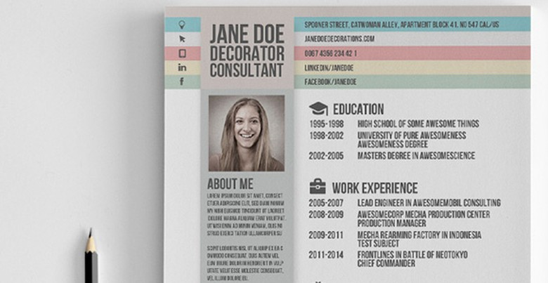 Creative Market Resume Template 5