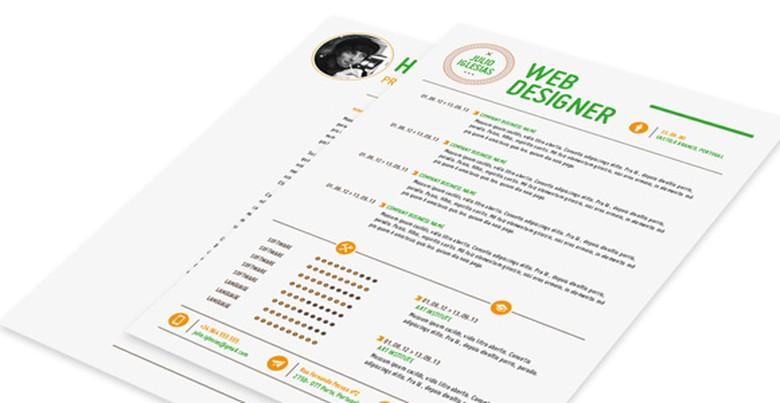 Creative Market Resume Template 7