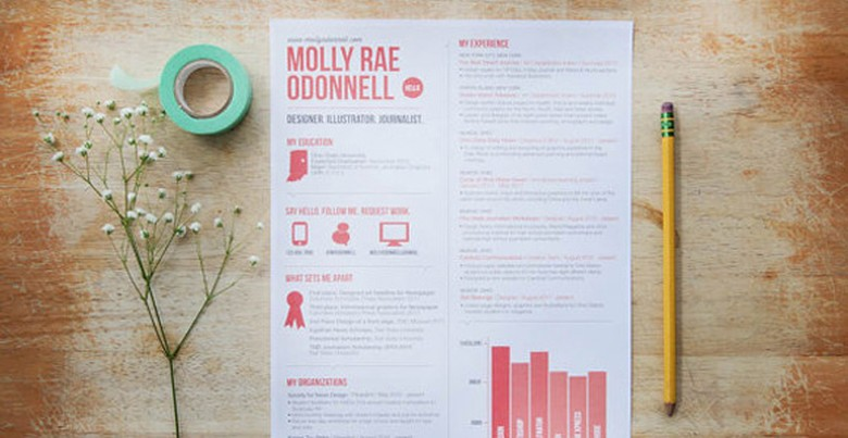 Etsy Red Resume Template 7