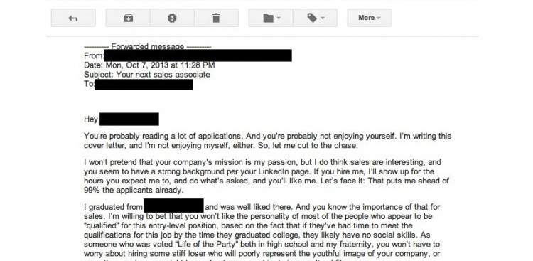 the worst cover letter ever written literally - T Cover Letter