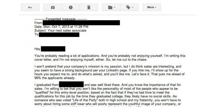 the worst cover letter ever written literally - Show Me An Example Of A Cover Letter