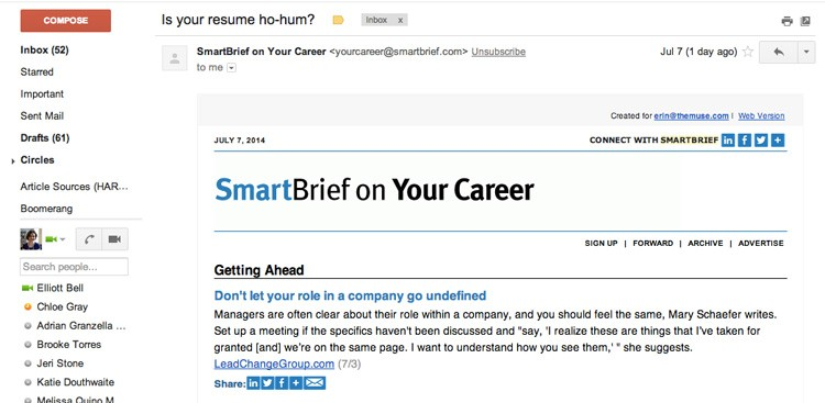 Career Guidance - The Secret to Filling Your Inbox With Newsletters You'll Actually Like
