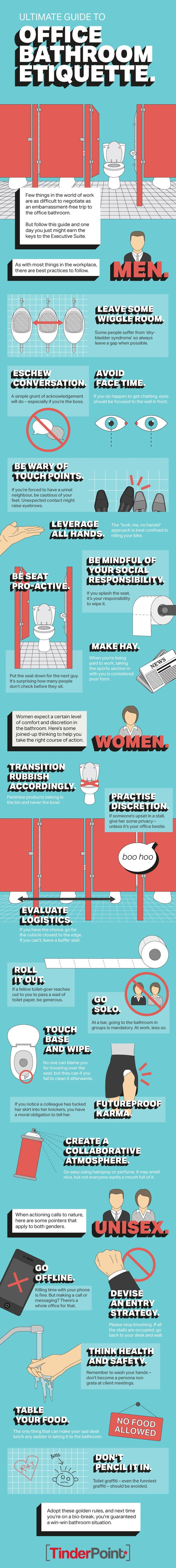 The Rules of Office Bathroom Etiquette (Because They Need to Be Said)
