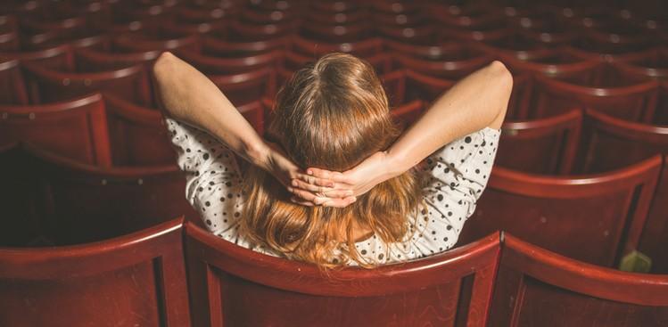Woman at movies alone