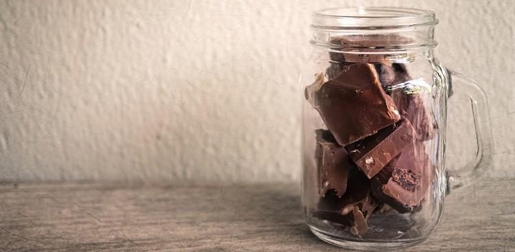 jar of chocolate pieces