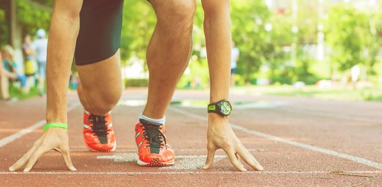 Runner at the starting line