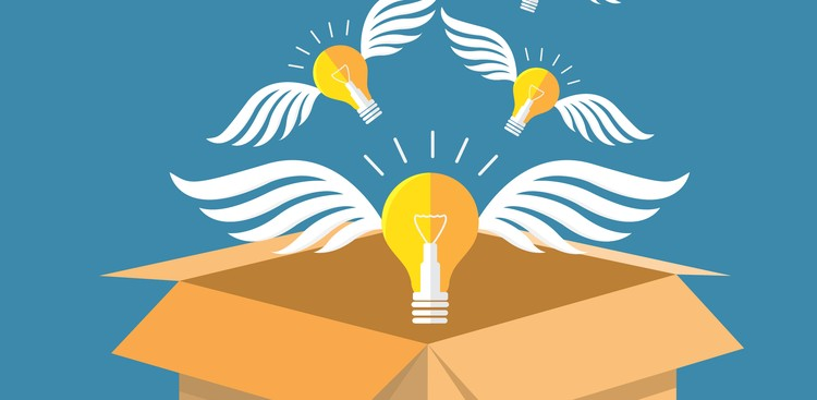 Ideas flying out of a box