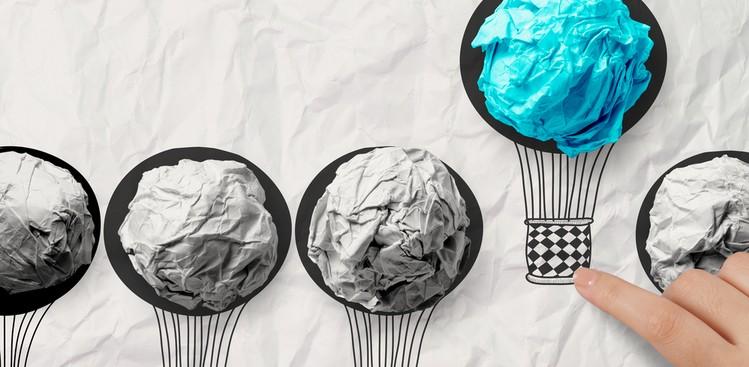 Hot air balloon art