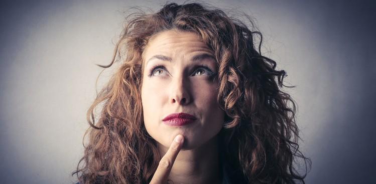 Woman looking confused