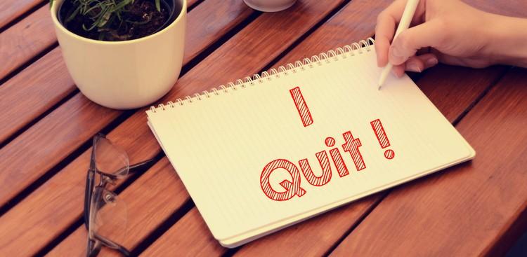 I Quit message