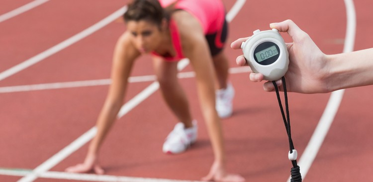 Runner starting a race