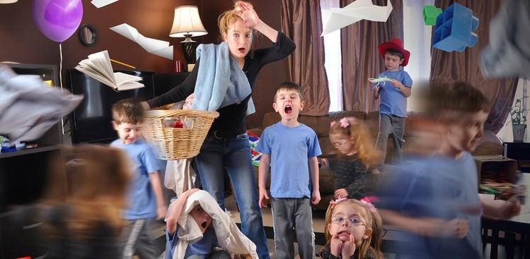 Overwhelmed babysitter