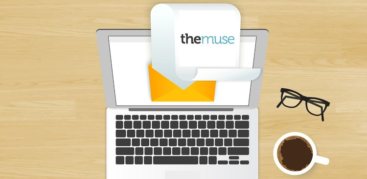 Newsletter on laptop illustration