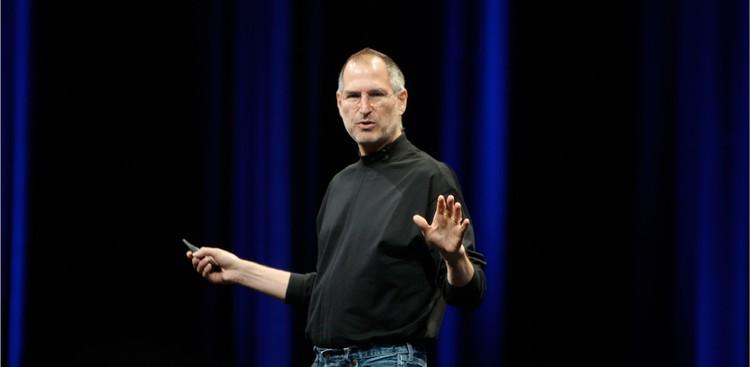 Steve Jobs giving presentation