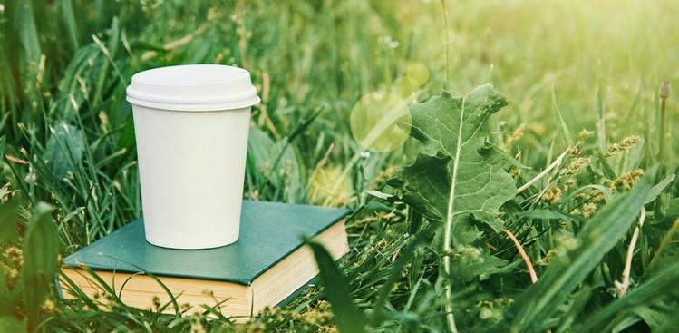 Coffee Mug and Grass