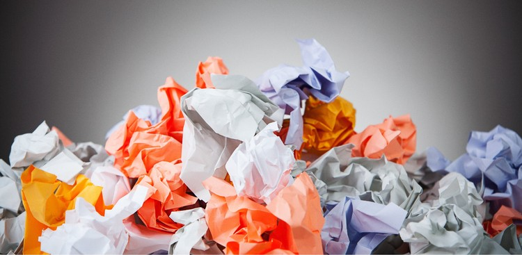 Pile of crumpled paper