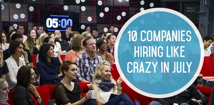 Top Companies Hiring July 2015 - The Muse