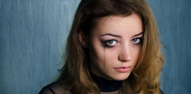 Sensitive woman crying