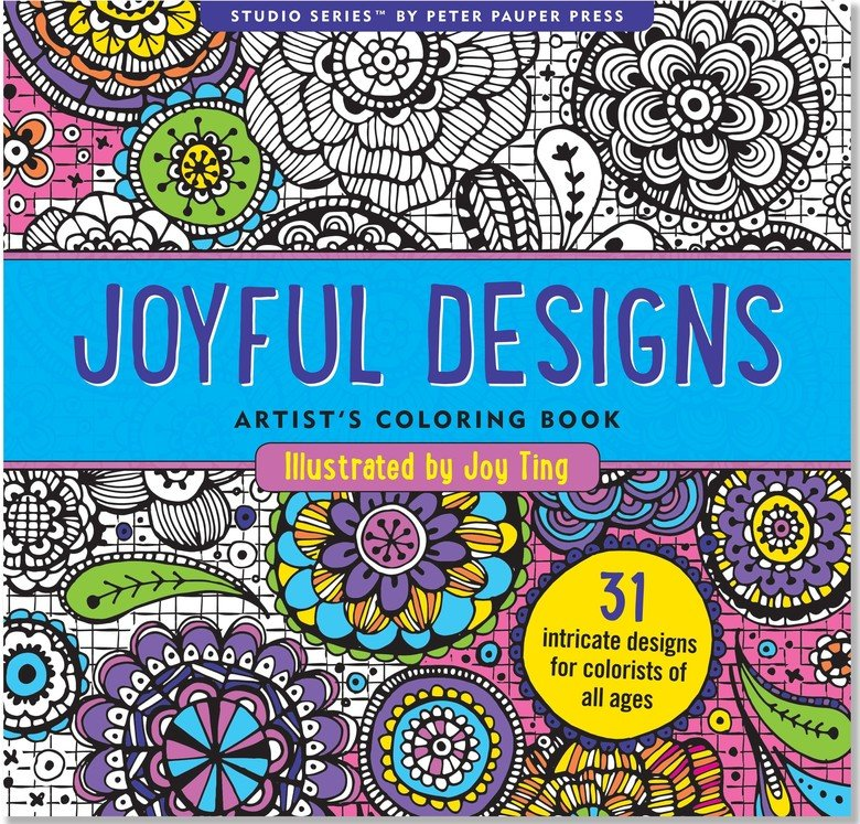 Joyful Designs Adult Coloring Book By Joy Ting