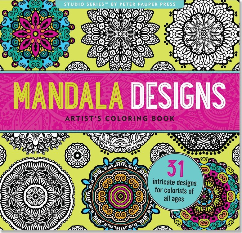 Mandala Designs Adult Coloring Book
