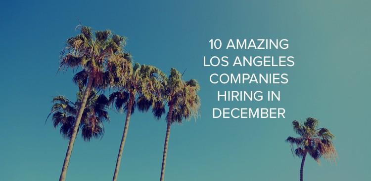 Companies hiring in Los Angeles