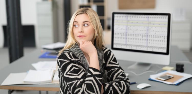 staring at computer