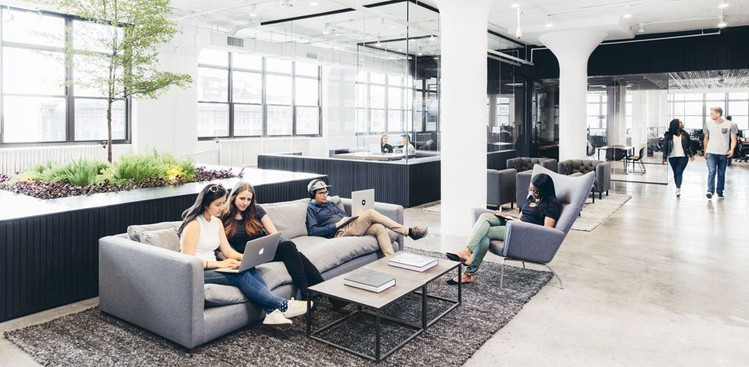 18 companies with cool office spaces the muse for Cool office pictures