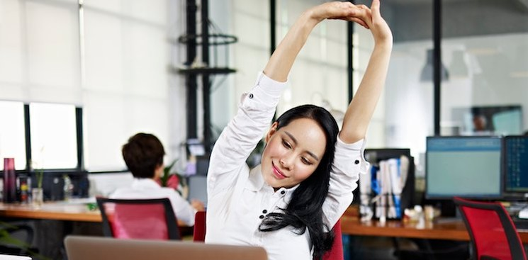 5 Ways to Reduce Stress at Work Without Getting Up
