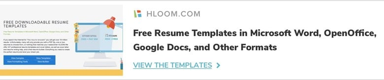 free resume templates - Ms Word Resume Template