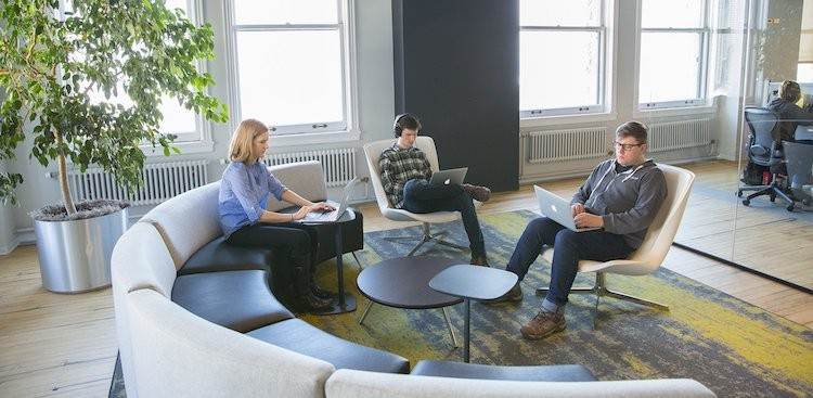 people working in NextCapital's Chicago office