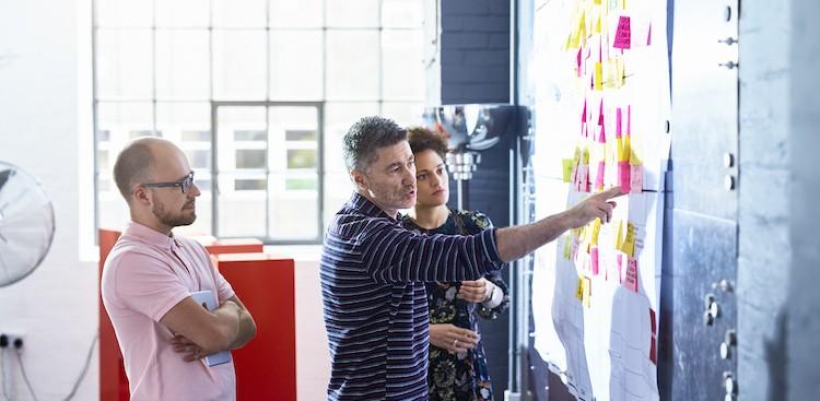 people brainstorming in a meeting