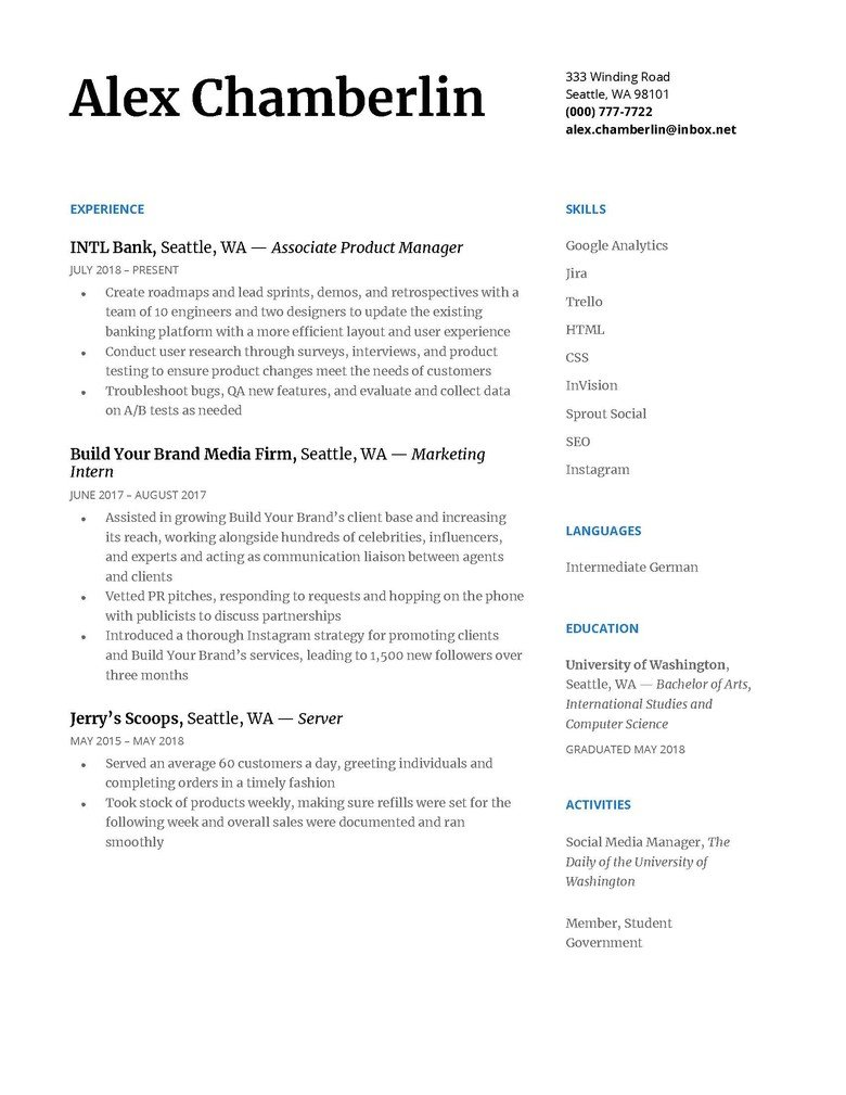 How To Write A Chronological Resume Plus Example The Muse