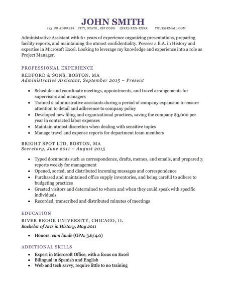 Resume Genius Dublin Template
