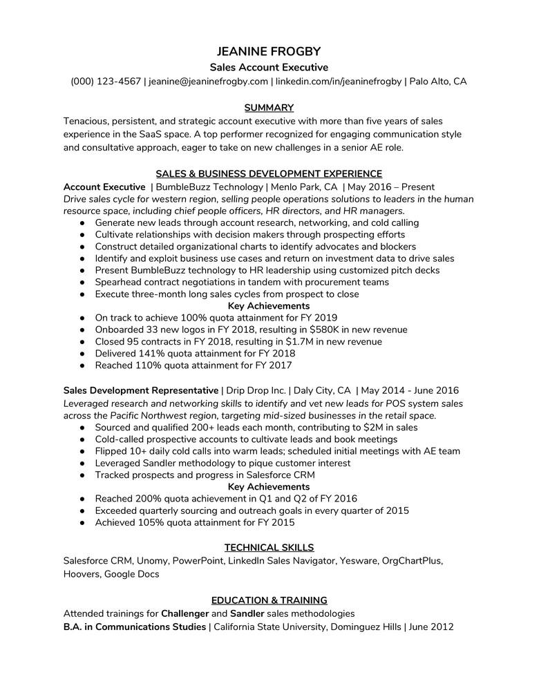 education and training resume
